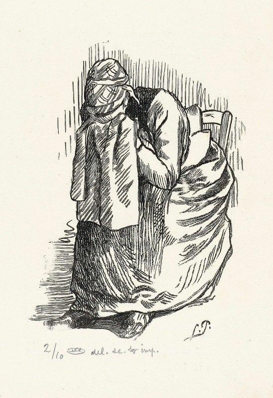 Lucien Pissarro - Huilende vrouw