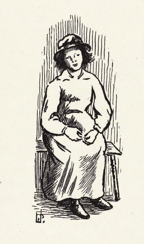 Lucien Pissarro - Jong meisje