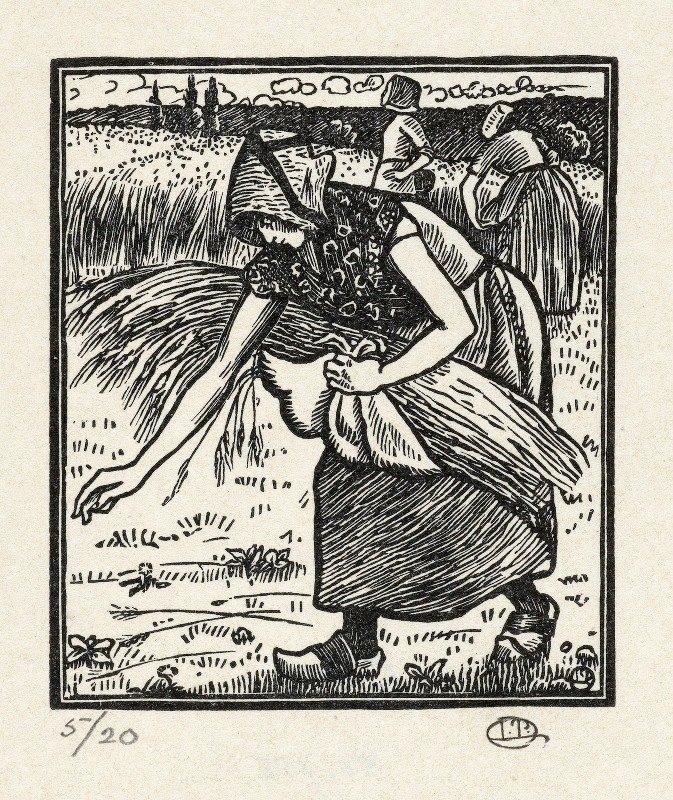 Lucien Pissarro - Ruth verzamelt aren