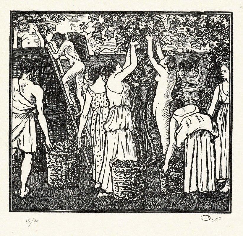 Lucien Pissarro - De wijnoogst