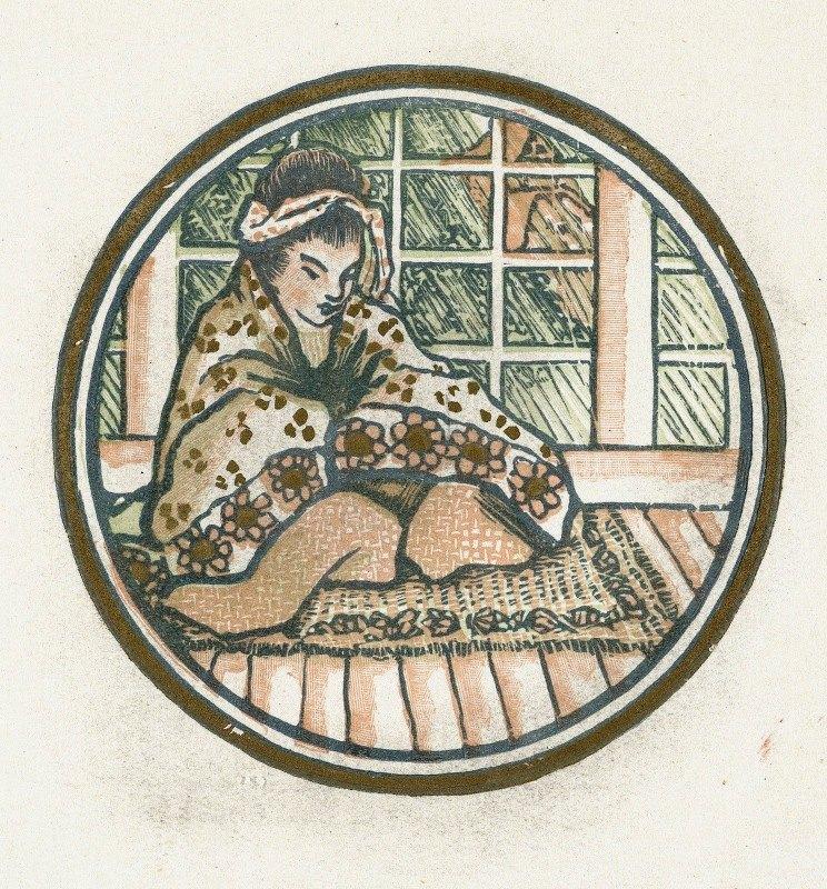 Lucien Pissarro - Zittende Japanse vrouw
