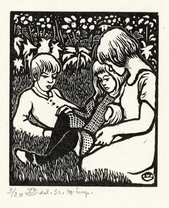 Lucien Pissarro - Drie kinderen