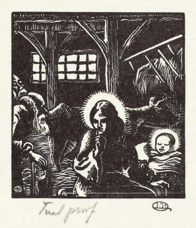 Lucien Pissarro - Geboorte van Christus