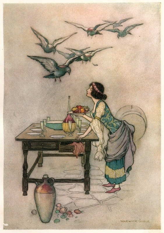 Warwick Goble - Cianna and her Brothers