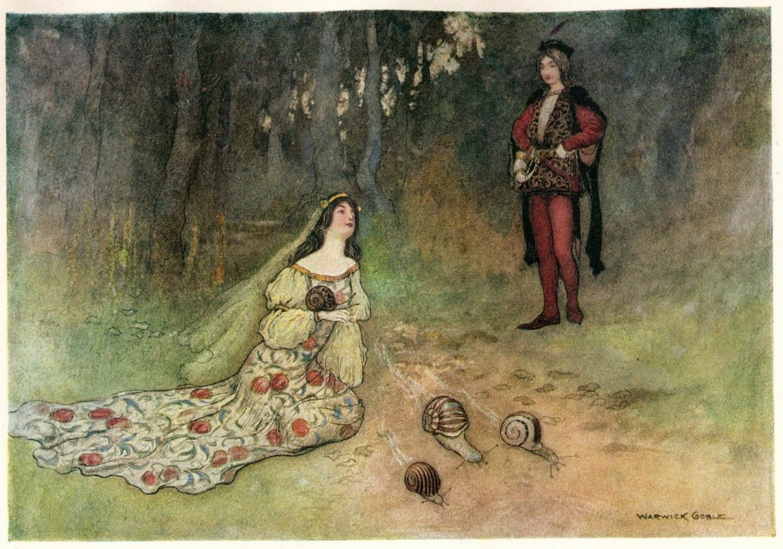 Warwick Goble - The Prince and Filadoro with the Snails