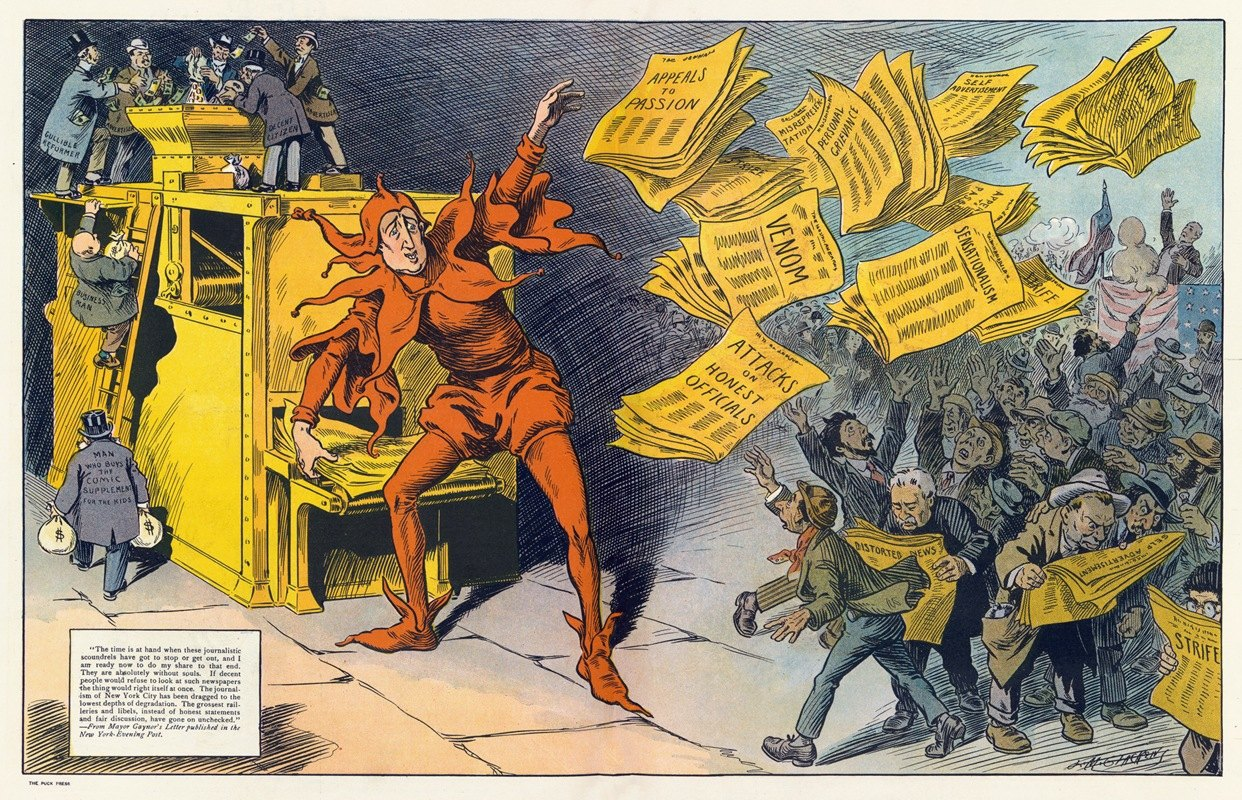 Louis Glackens - The yellow press