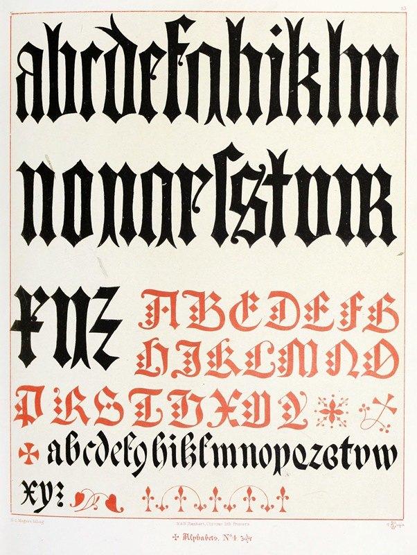 Augustus Pugin - Alphabets 4