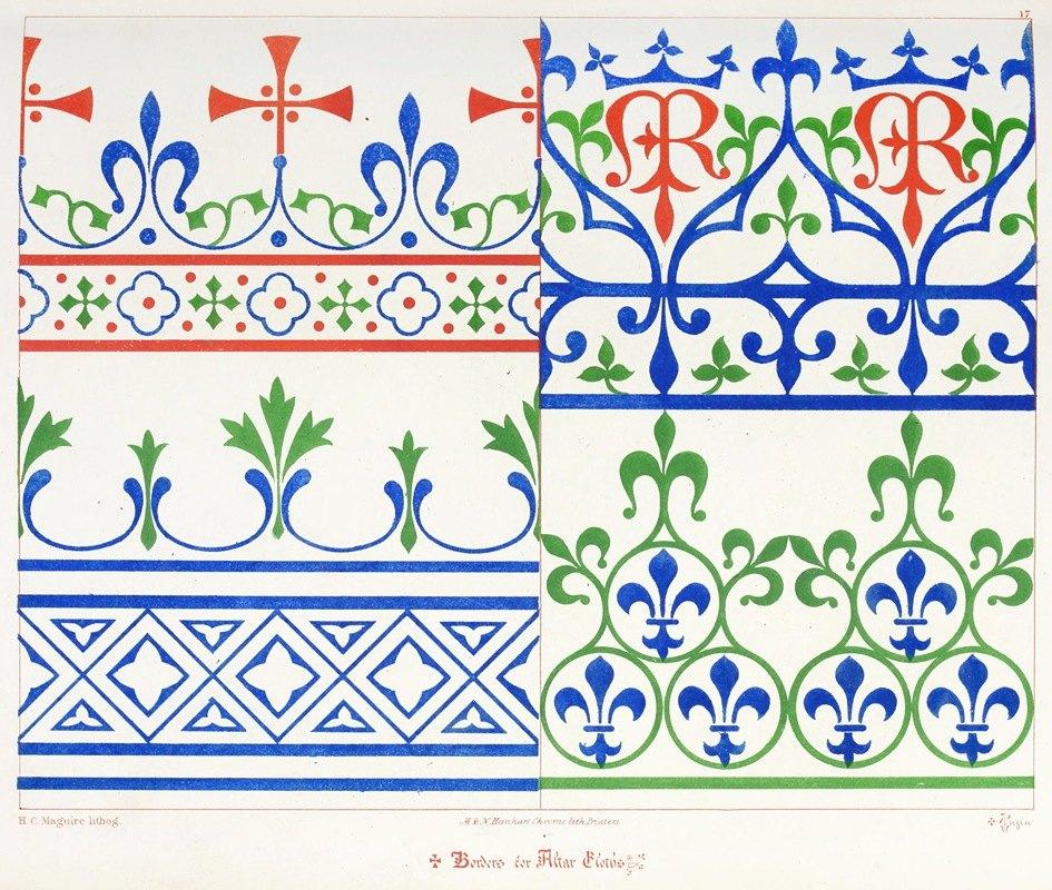 Augustus Pugin - Borders for Altar Cloths.