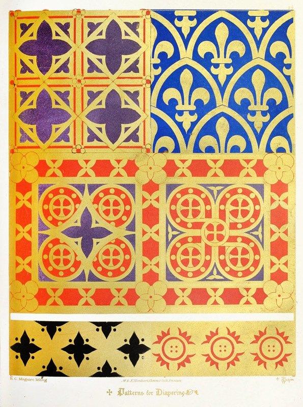 Augustus Pugin - Patterns for Diapering 4