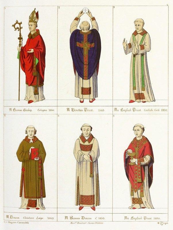 Augustus Pugin - Roman, English, and German Ecclesiastics