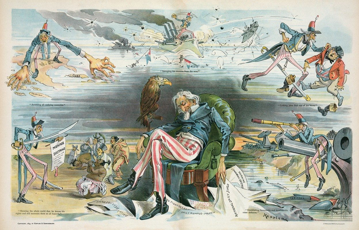 Udo Keppler - Uncle Sam's dream of conquest and carnage – caused by reading the Jingo newspapers