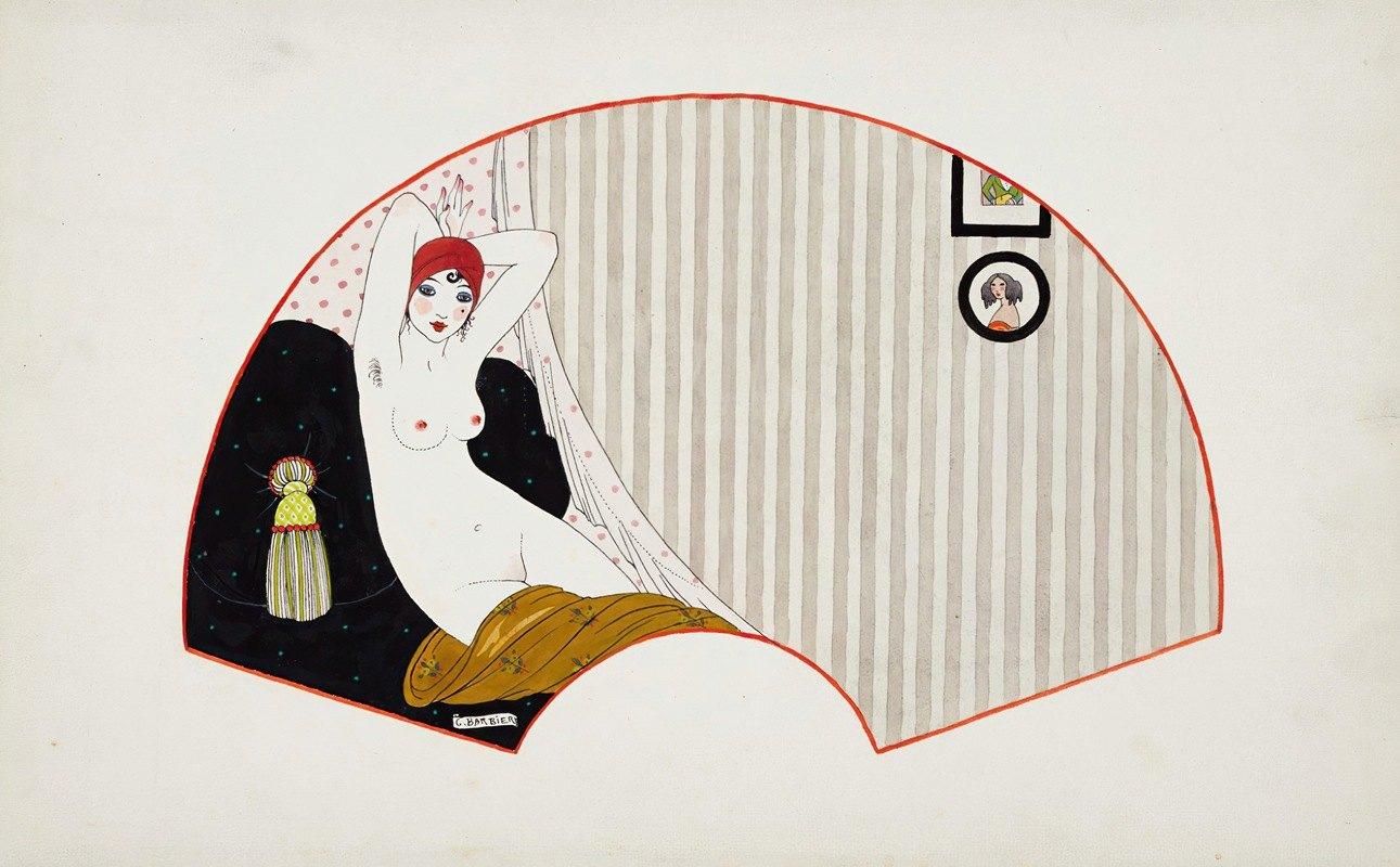 George Barbier - Femme nue sur un divan