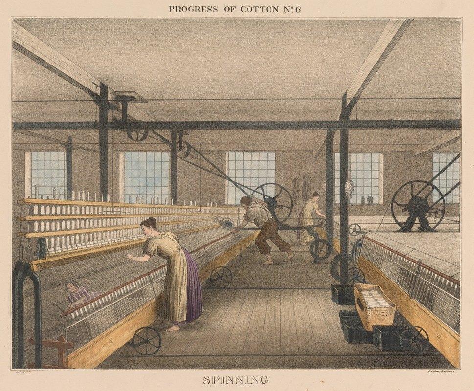 James Richard Barfoot - Progress of Cotton; #6 Spinning