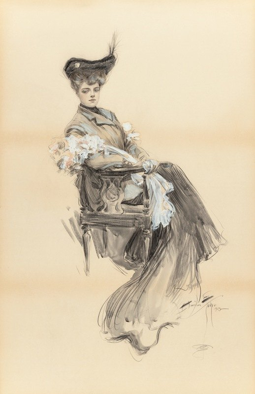 Harrison Fisher - A Lady of Leisure