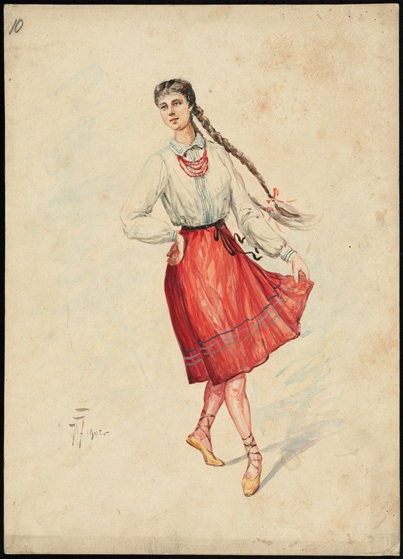 W. Fasienski - Unidentified Italian opera costume design plate 10