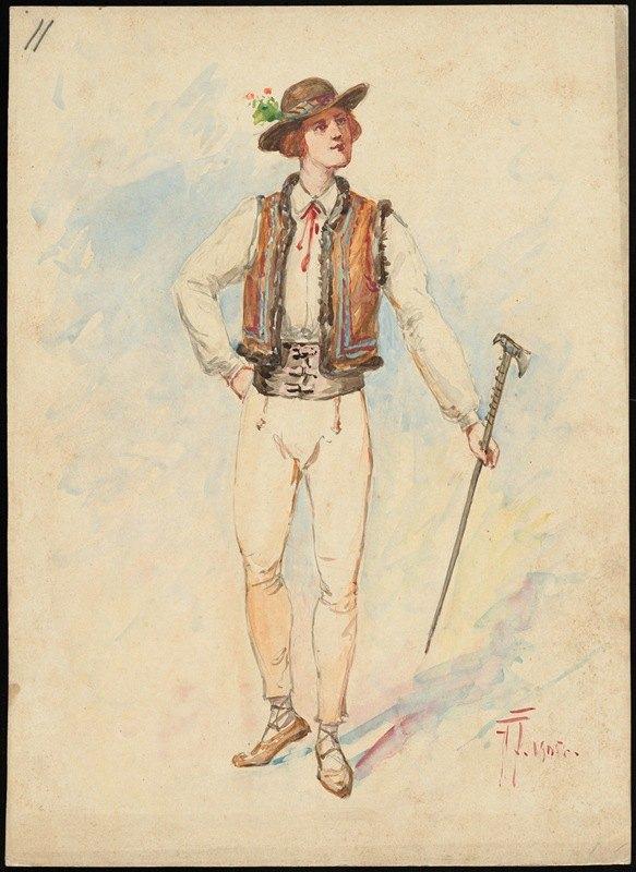 W. Fasienski - Unidentified Italian opera costume design plate 11