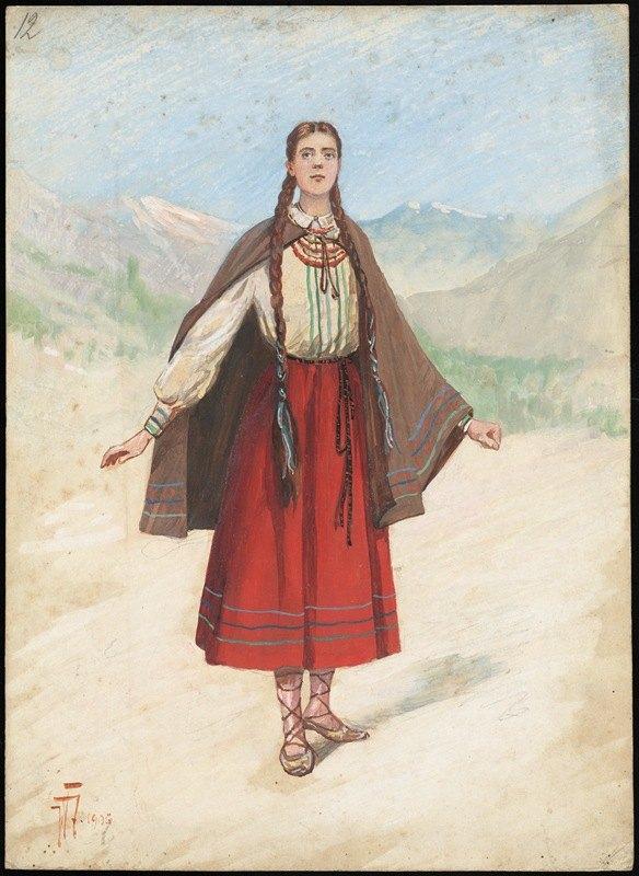 W. Fasienski - Unidentified Italian opera costume design plate 12