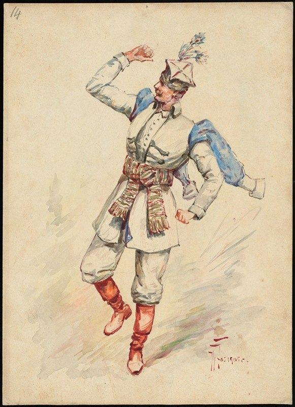 W. Fasienski - Unidentified Italian opera costume design plate 14