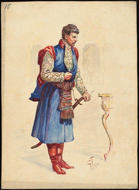 W. Fasienski - Unidentified Italian opera costume design plate 15