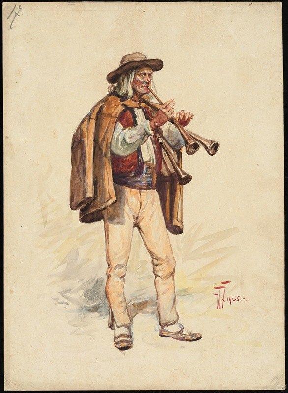 W. Fasienski - Unidentified Italian opera costume design plate 17