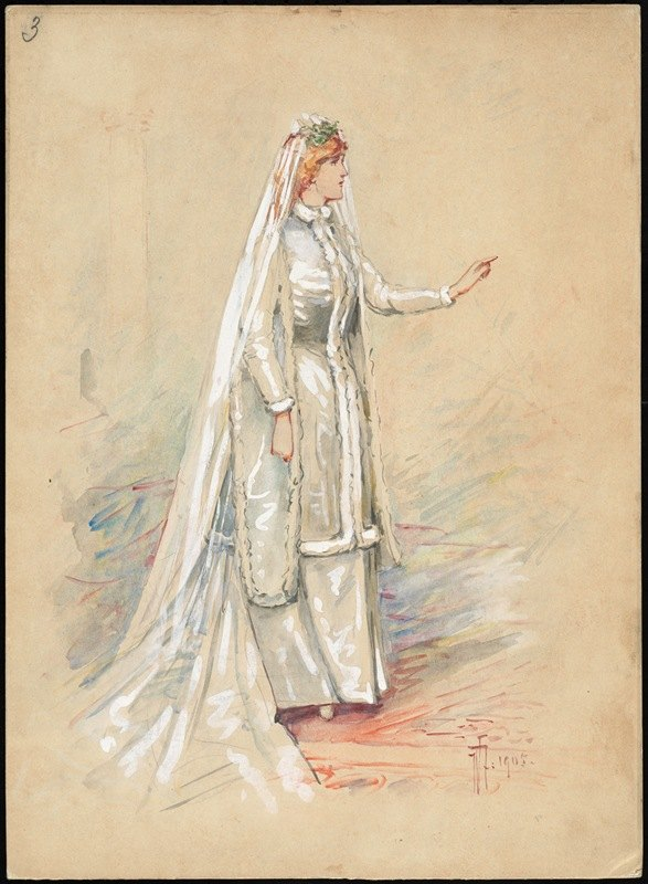 W. Fasienski - Unidentified Italian opera costume design plate 3