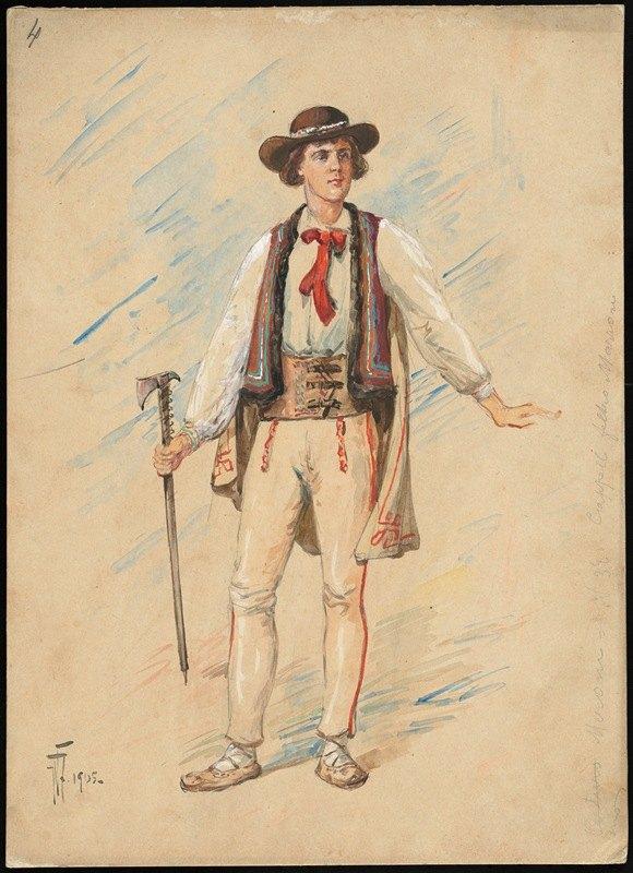 W. Fasienski - Unidentified Italian opera costume design plate 4