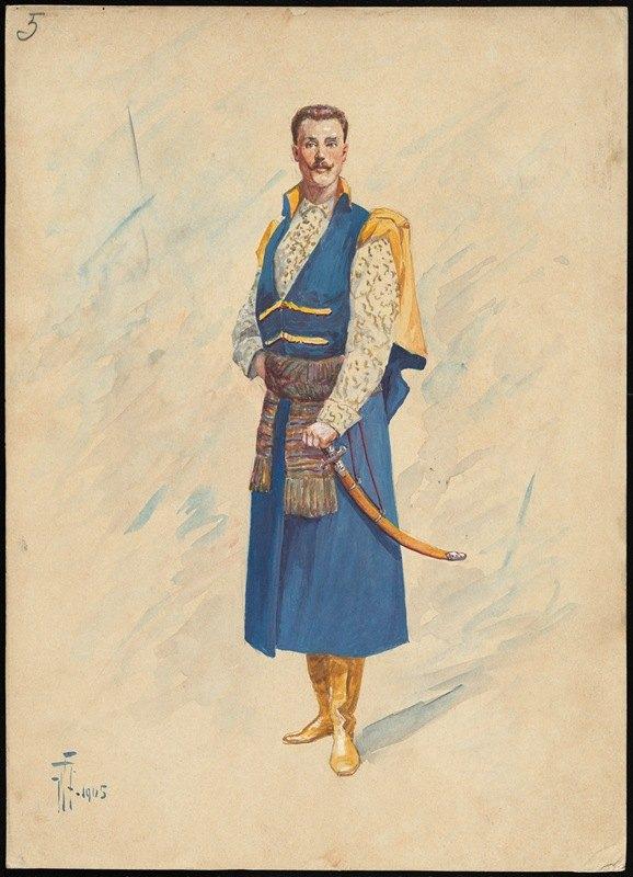 W. Fasienski - Unidentified Italian opera costume design plate 5