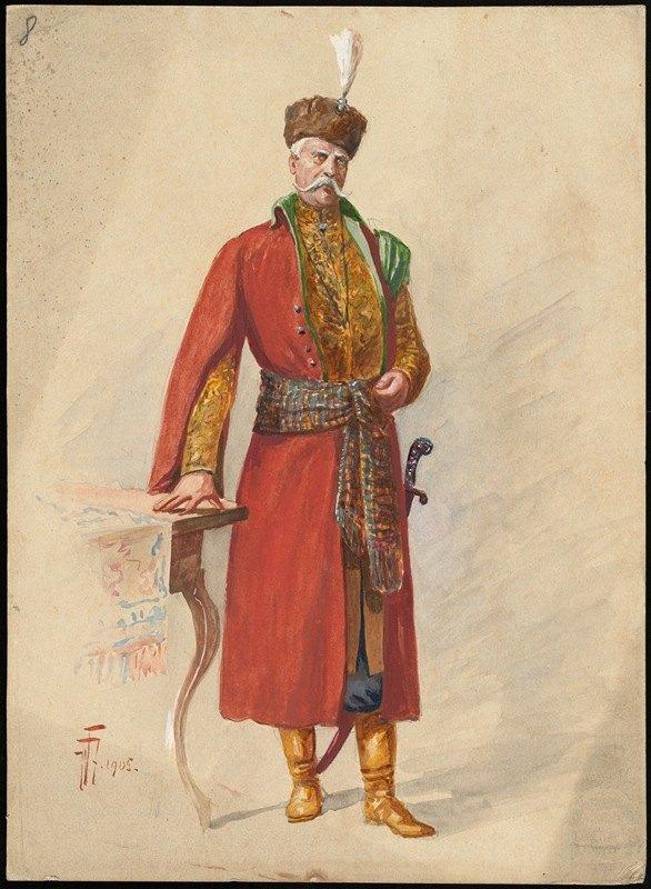 W. Fasienski - Unidentified Italian opera costume design plate 8