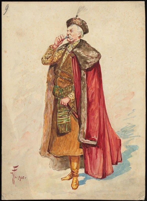 W. Fasienski - Unidentified Italian opera costume design plate 9