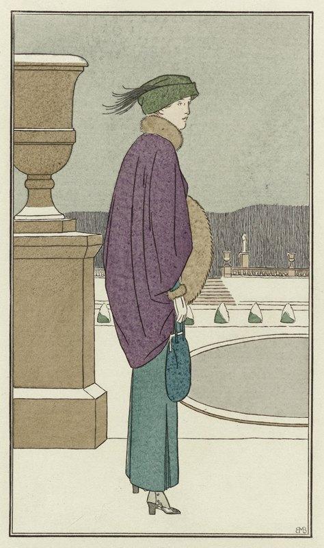 Anonymous - Manteau de velours violet