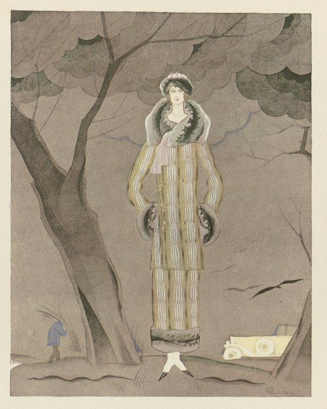 Charles Martin - L'hiver ; Tailleur en fourrure, de Max-Leroy