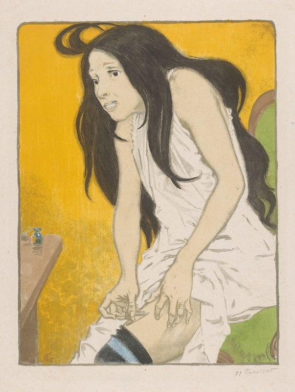 Eugène Grasset - Morfineverslaafde vrouw