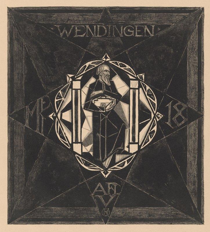 Richard Nicolaüs Roland Holst - Omslagontwerp voor; Wendingen, 1918