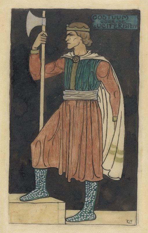Richard Nicolaüs Roland Holst - Ontwerp voor kostuum voor de Luciferisten