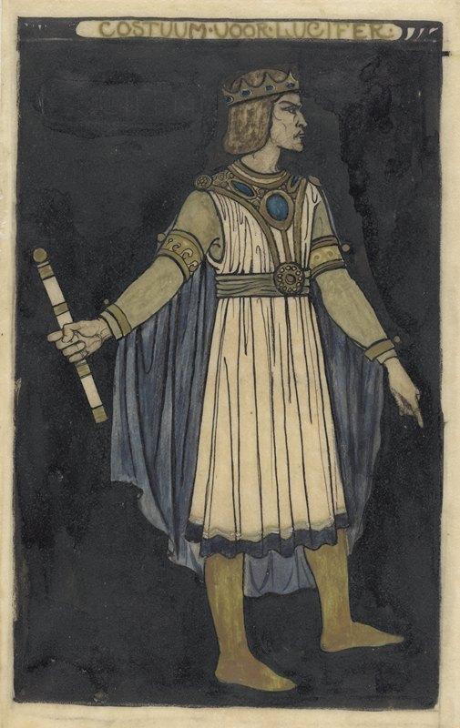 Richard Nicolaüs Roland Holst - Ontwerp voor kostuum voor Lucifer