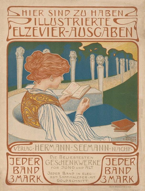 Walter Tiemann - Affiche van uitgeverij Hermann Seemann Nachfolger