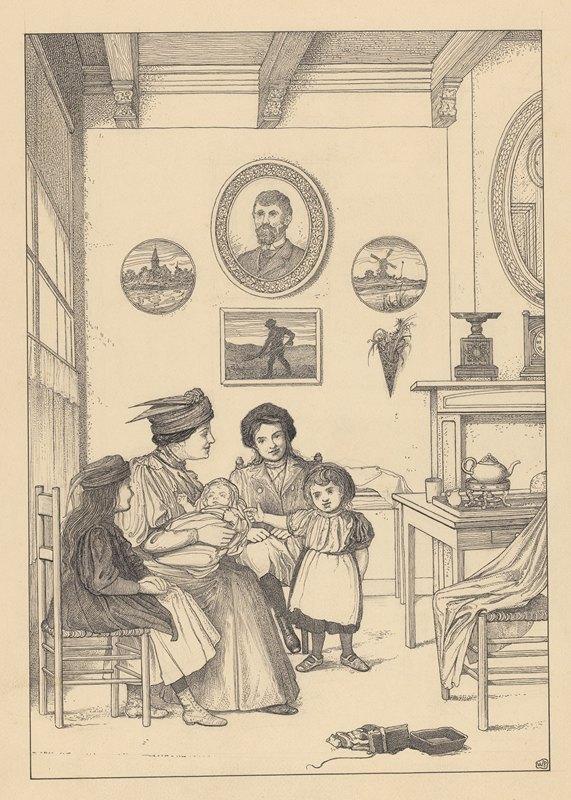 Willem Pothast - Gezelschap met baby